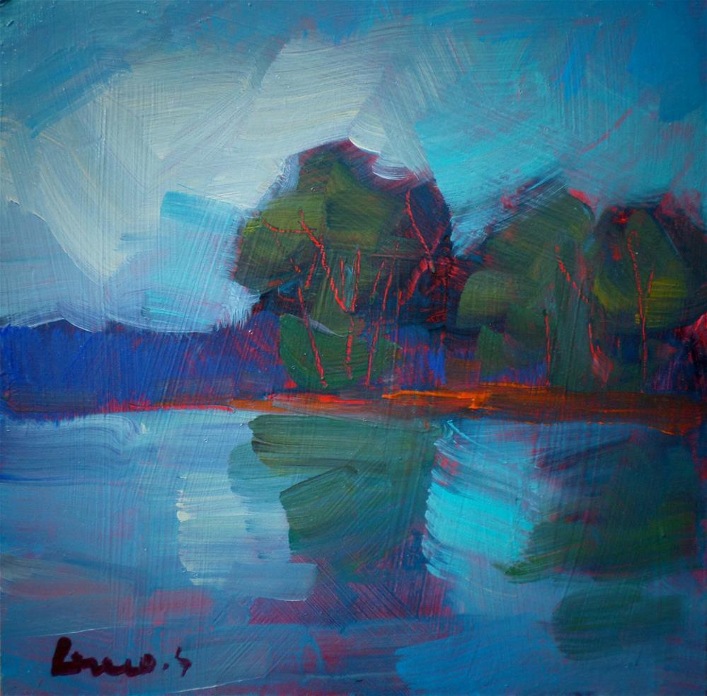 """Light in the pond"" original fine art by salvatore greco"