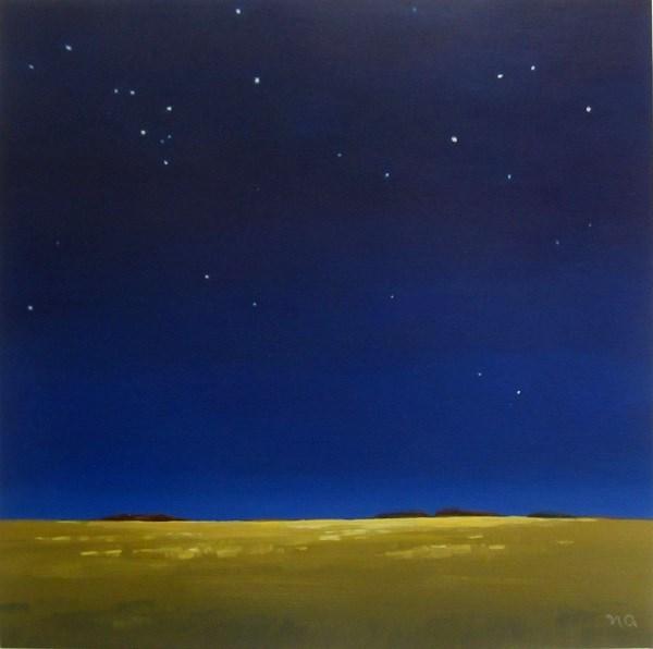 """Starlit Canola"" original fine art by Nicki Ault"