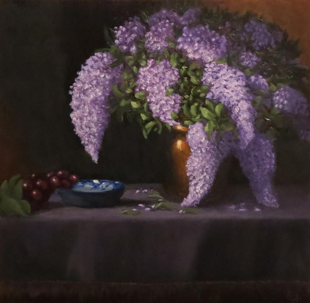 """Lilacs in Copper"" original fine art by Elizabeth Elgin"