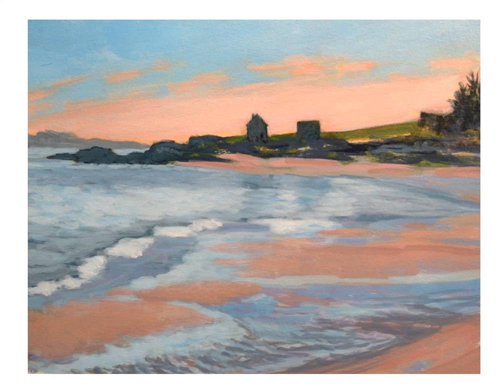 """""""Willard Beach Silhouette"""" original fine art by Suzanne Woodward"""
