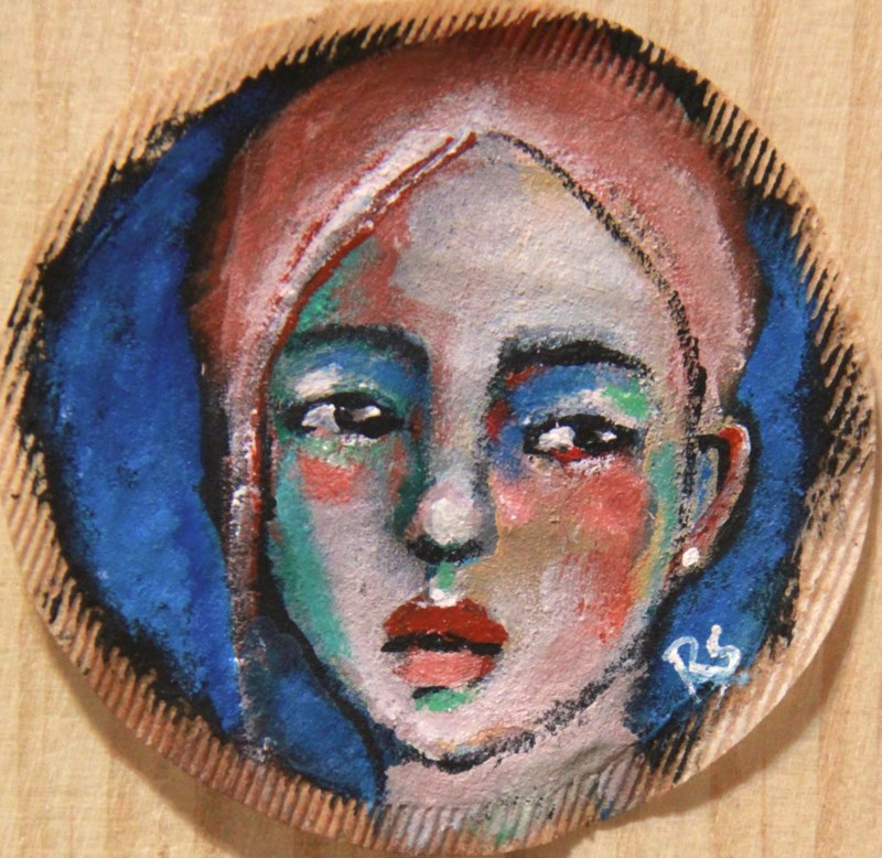 """Tea Bag Portrait - Chrisynda"" original fine art by Roberta Schmidt ArtcyLucy"