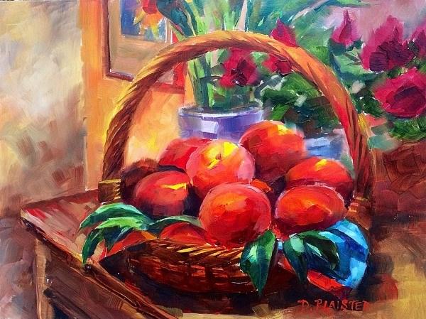 """Les Peches"" original fine art by Diane Plaisted"