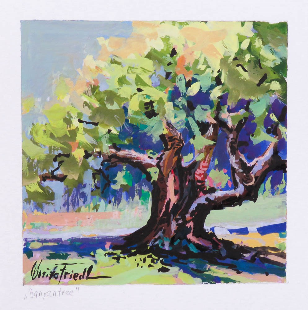 """Banyan Tree"" original fine art by Christa Friedl"
