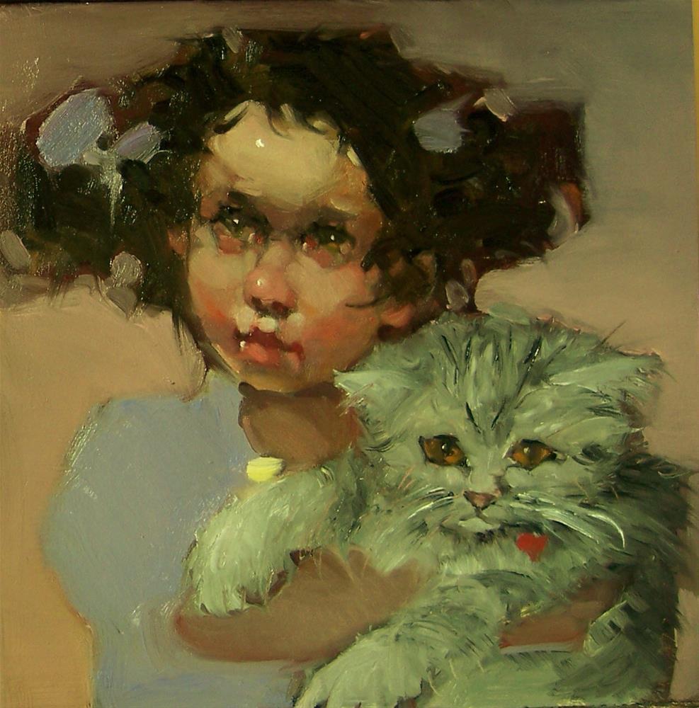 """""""Kittens"""" original fine art by Kim Roberti"""