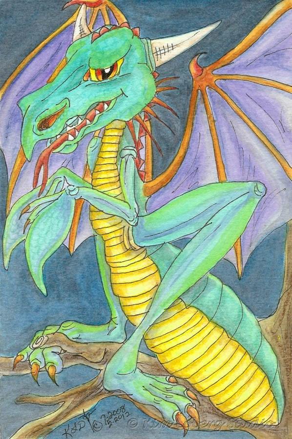 """Dragon Mantid"" original fine art by Kim Loberg"
