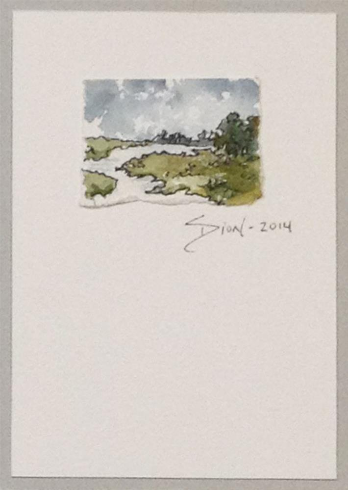 """Miniature Landscape 3"" original fine art by Sue Dion"