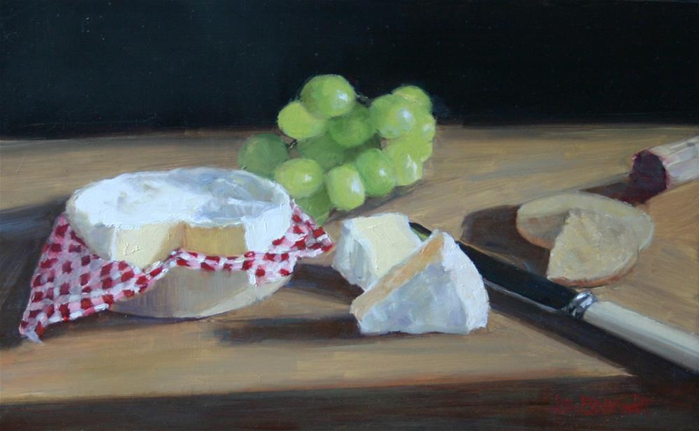 """Cheese course"" original fine art by Liz Balkwill"