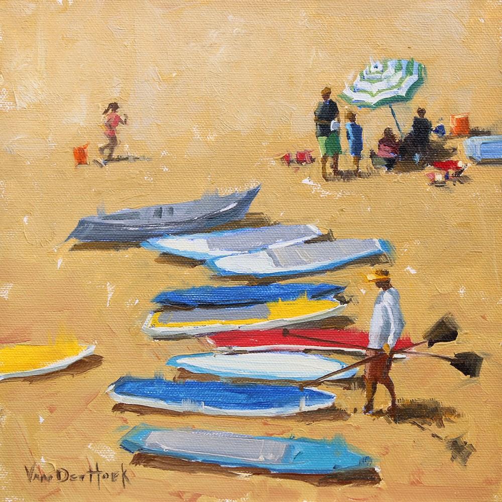 """""""Paddle Boards"""" original fine art by Kim VanDerHoek"""