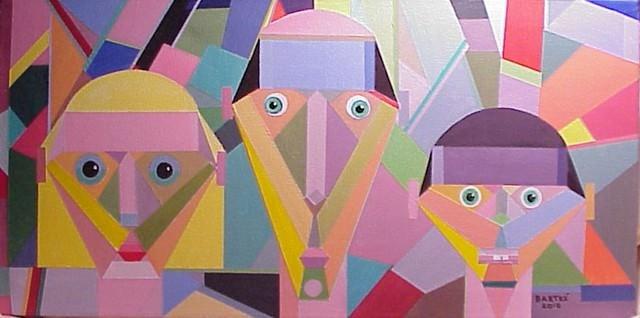 """Functional Family"" original fine art by Janice Bartke Thompson"
