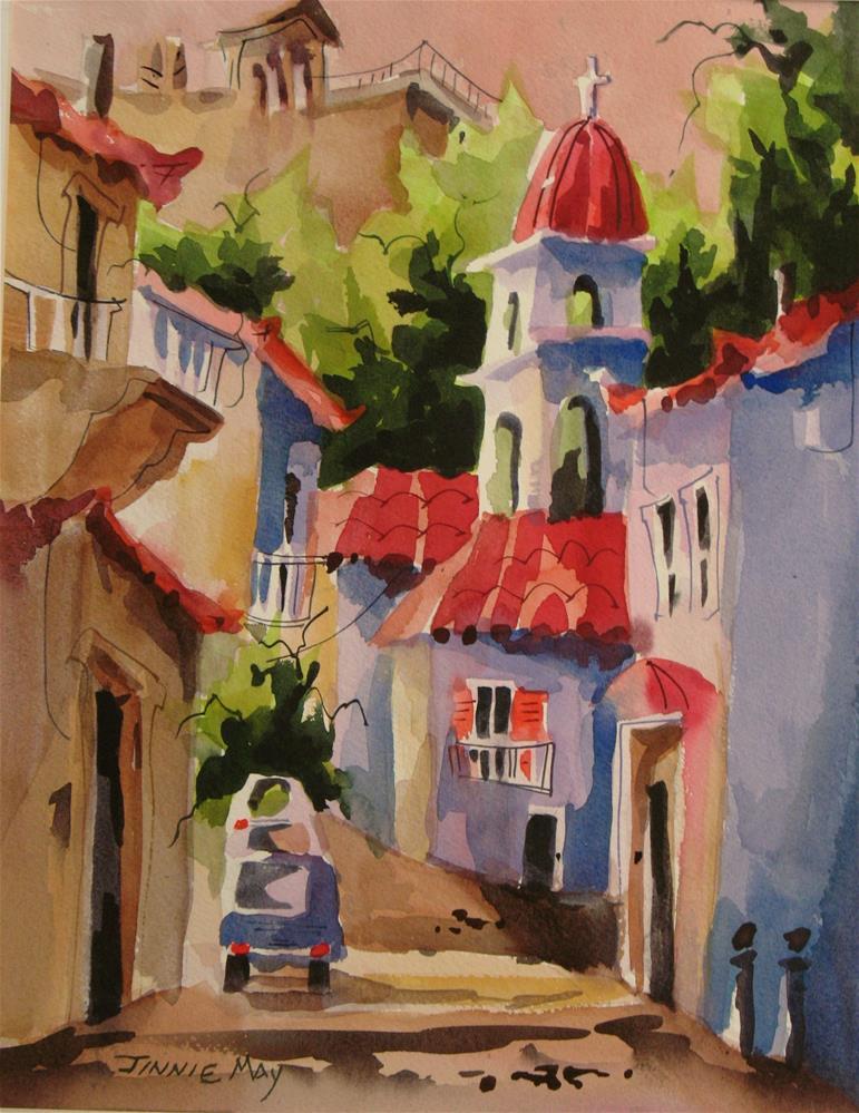 """Athens"" original fine art by Jinnie May"