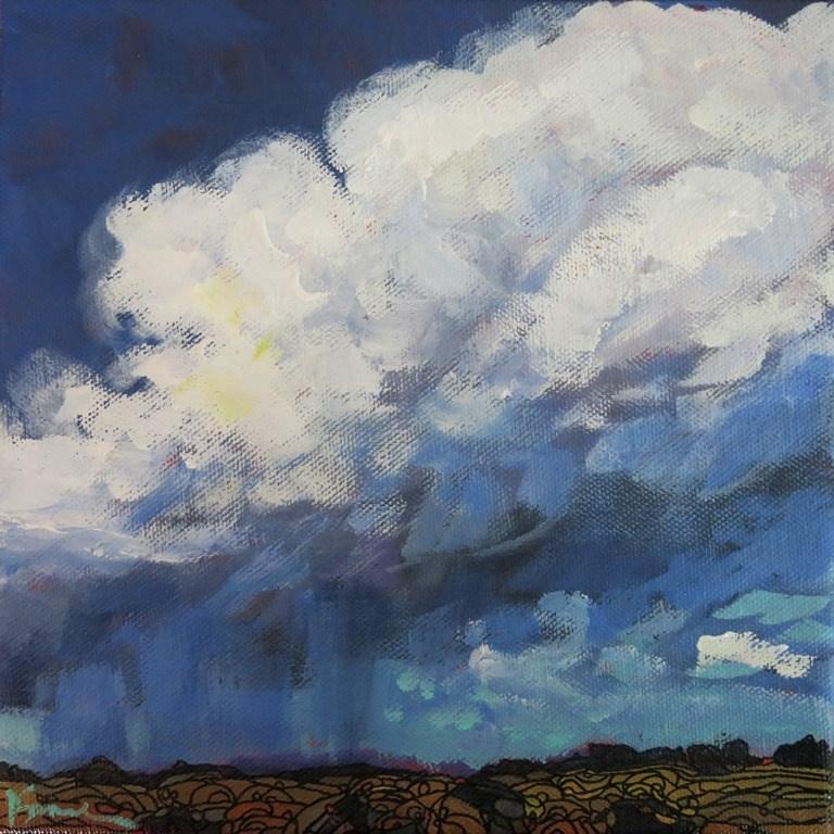 """untitled thunderstorm"" original fine art by Dee Sanchez"