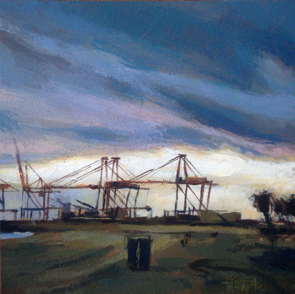 """Malaga´s port"" original fine art by Víctor Tristante"