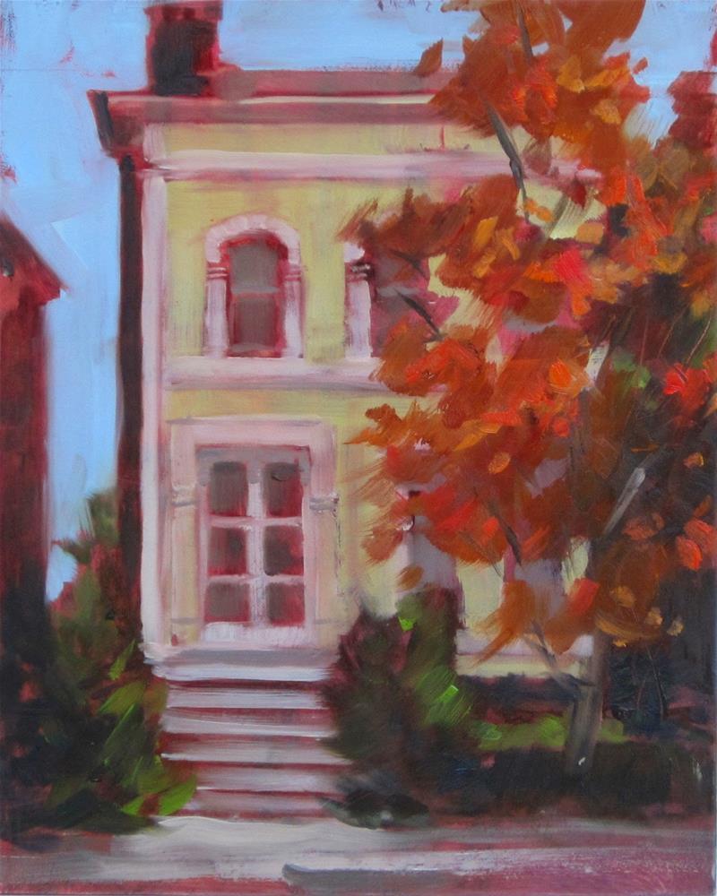 """""""Plein air at Lafayette Park yesterday"""" original fine art by Sandy Haynes"""