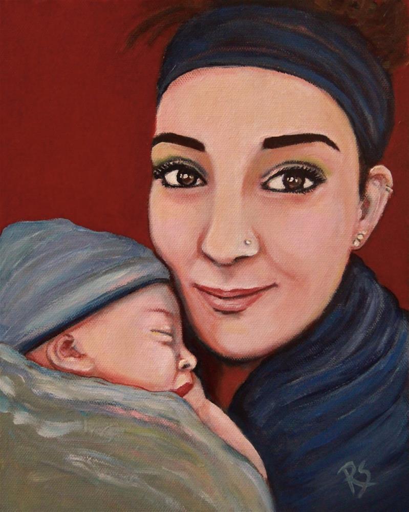 """""""A Mother's Love"""" original fine art by Roberta Schmidt"""