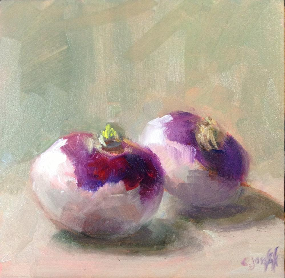 """Last of the turnips"" original fine art by Carol Josefiak"