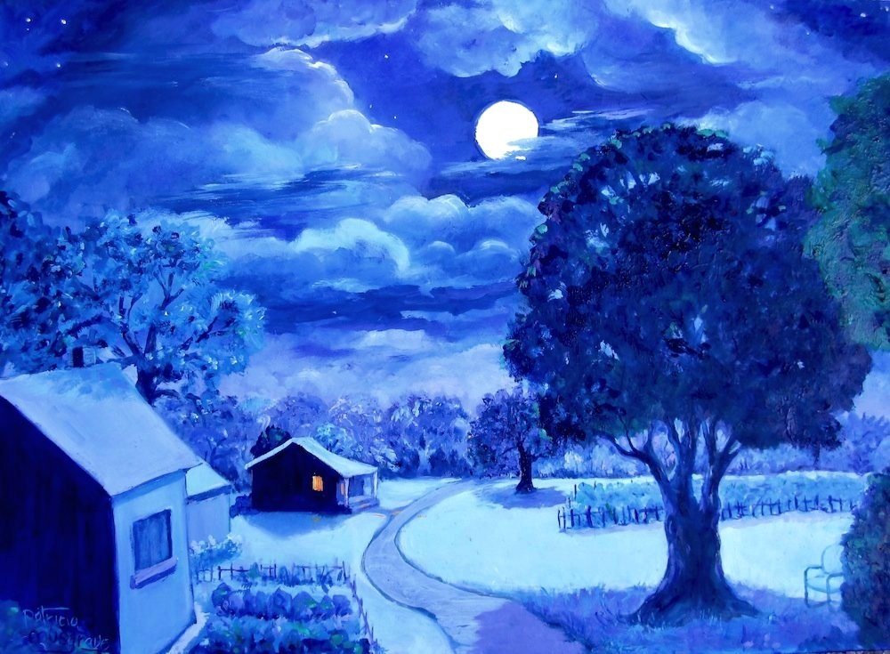 """""""The Quiet of the Night"""" original fine art by Patricia Musgrave"""