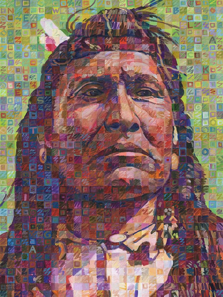"""New Chest Of The Piegan Blackfoot"" original fine art by Randal Huiskens"
