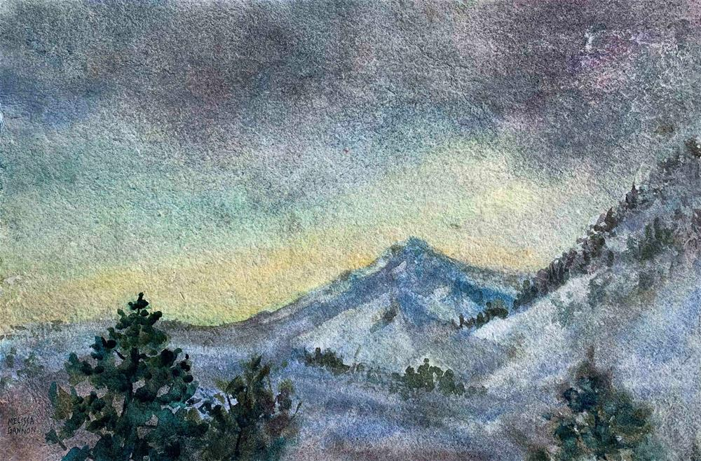 """Evening at Mt. Hood"" original fine art by Melissa Gannon"