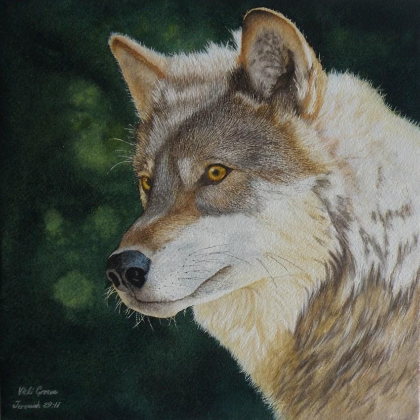"""""""Under Observation"""" original fine art by Vicki Greene"""