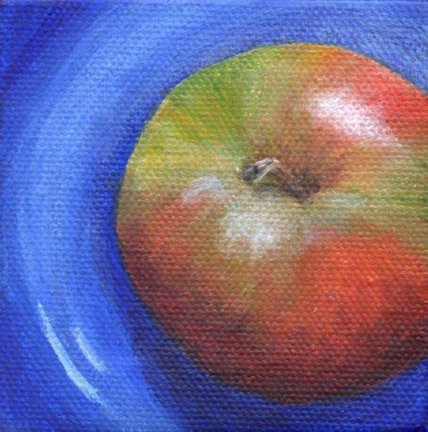 """Healthy Start"" original fine art by Debbie Shirley"