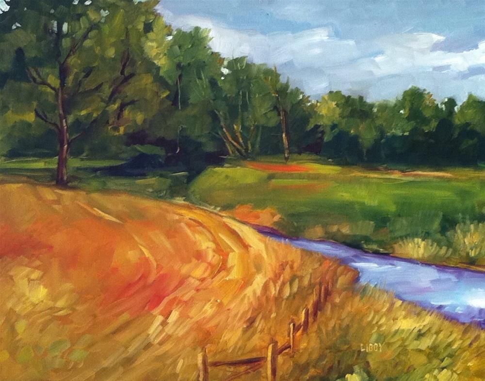 """Creekside"" original fine art by Libby Anderson"