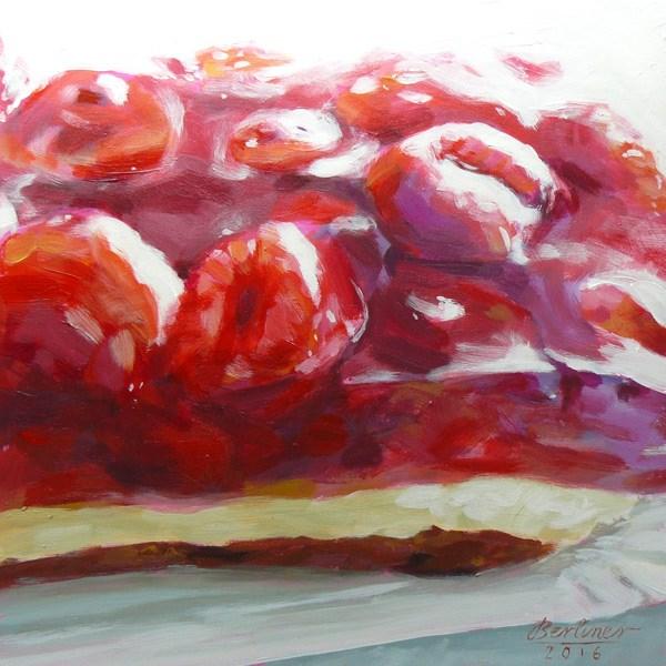 """""""063 Himbeerkuchen No.5"""" original fine art by Anja Berliner"""