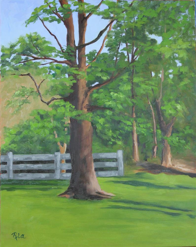 """Be Like a Tree"" original fine art by Maria Reed"