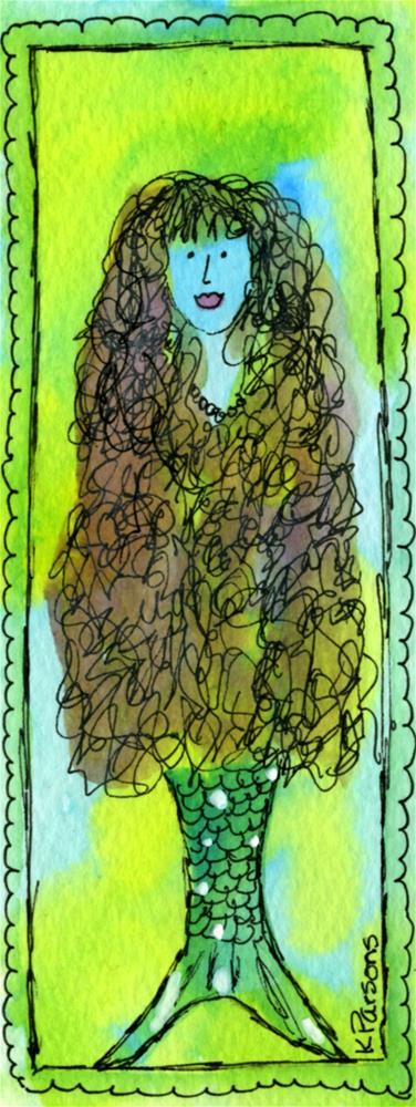 """Mermaid"" original fine art by Kali Parsons"