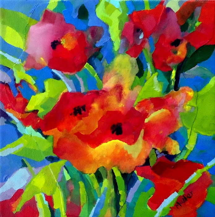 """Blissful Bunch"" original fine art by Laurie Mueller"