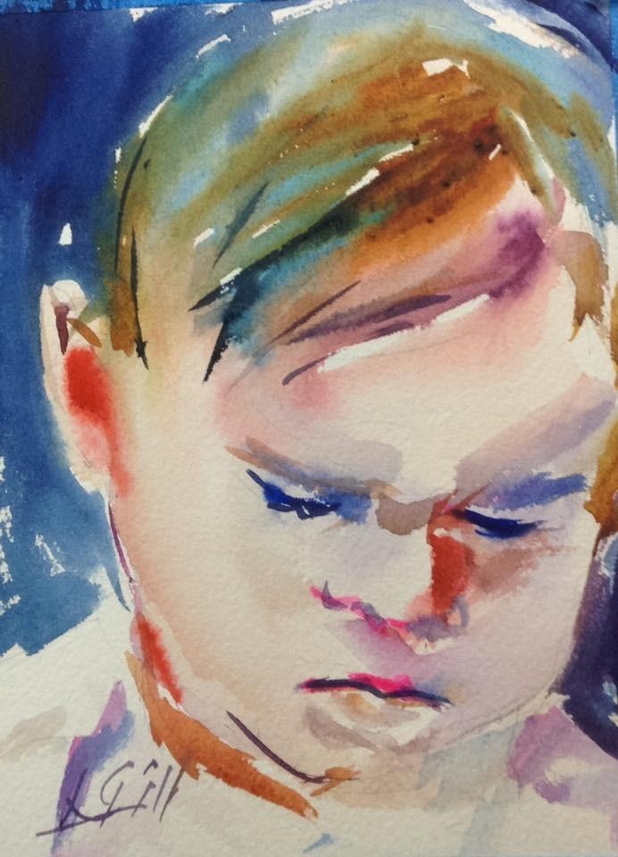 """Day 24 - Sweet Cheeks"" original fine art by Lyn Gill"