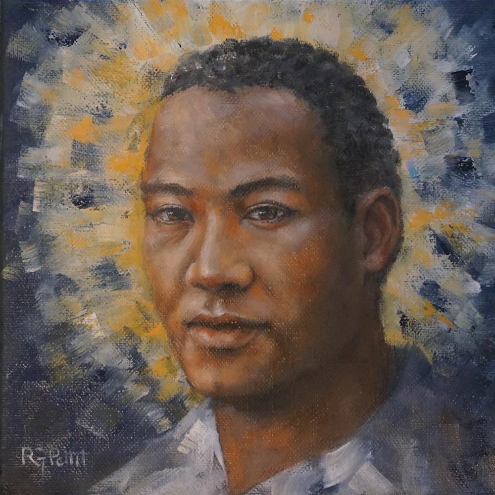 """500 Angels: #2 (Matthew)"" original fine art by Rhea  Groepper Pettit"