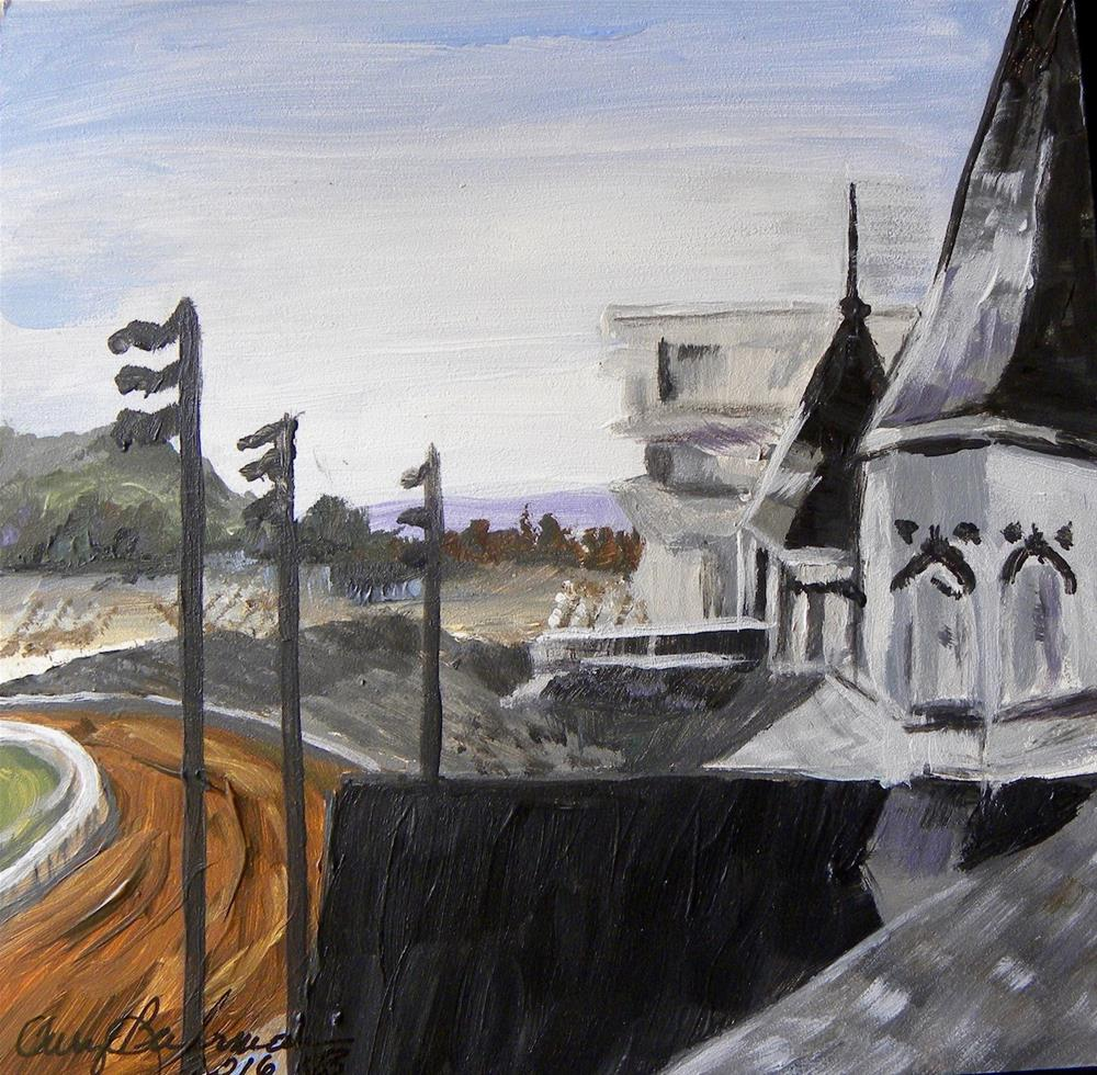 """Churchill downs"" original fine art by cheryl buhrman"