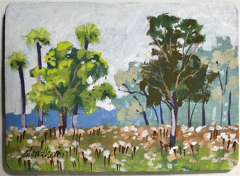 """Spring Trees"" original fine art by Linda Blondheim"