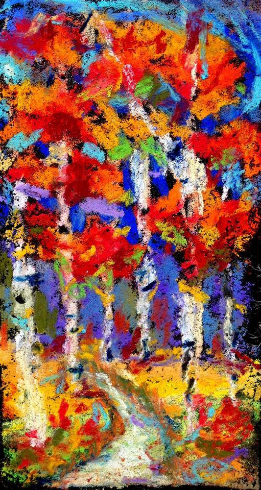 """""""Fiery Fall"""" original fine art by Kristen Dukat"""