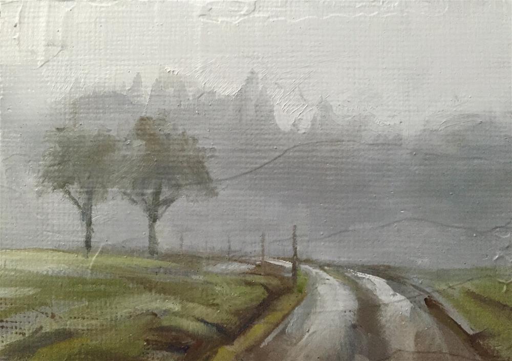 """""""Foggy Road"""" original fine art by Gary Bruton"""