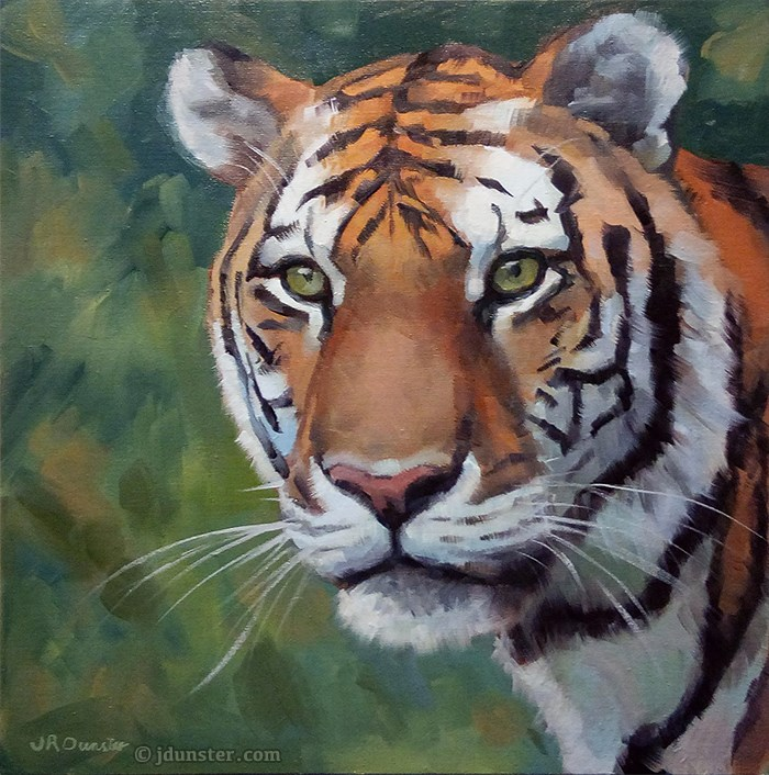 """Vibrant Tiger [STUDIO CLEARANCE]"" original fine art by J. Dunster"