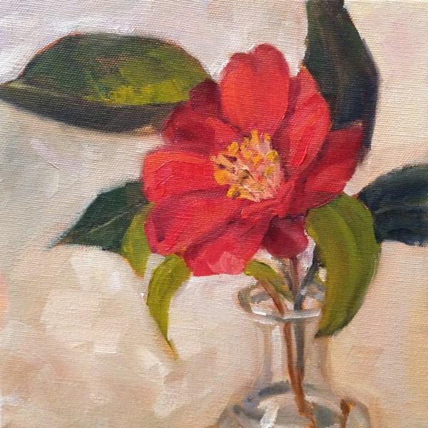 """""""Camellia"""" original fine art by Marcela Strasdas"""