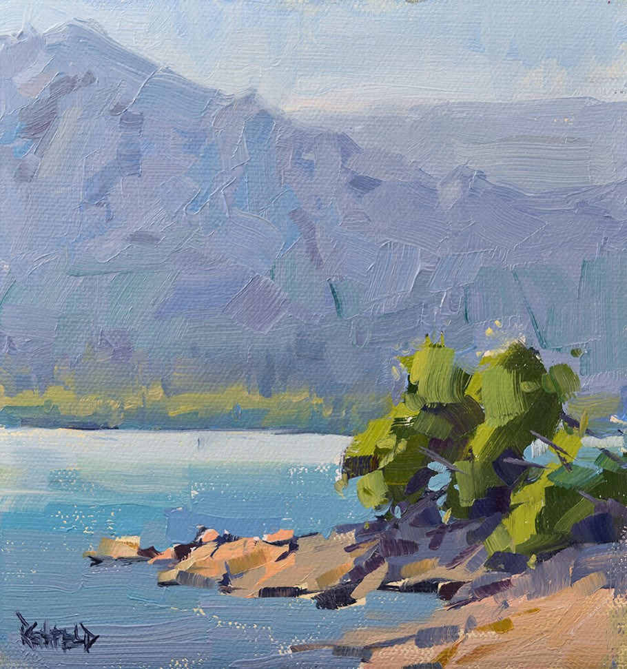 """Columbia River Summer"" original fine art by Cathleen Rehfeld"