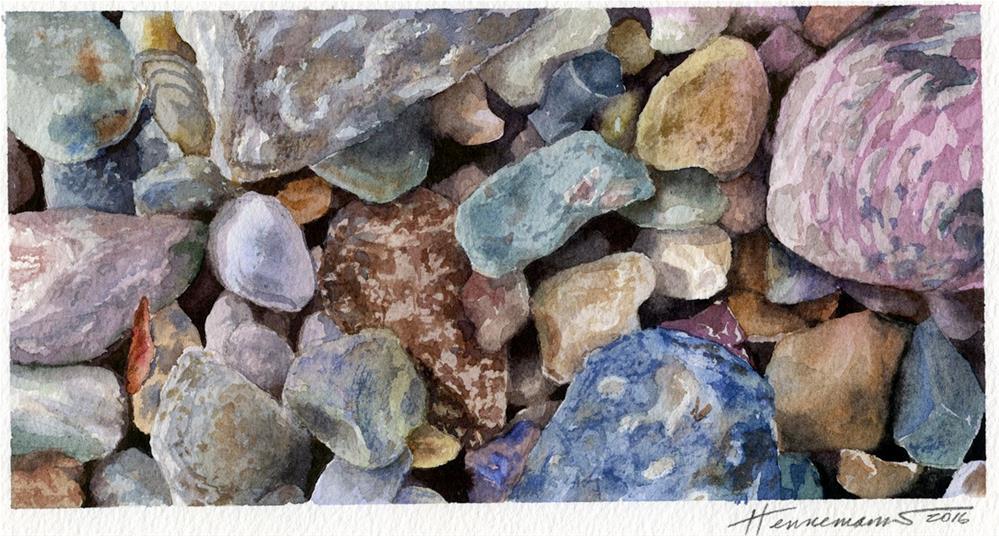 """""""Rocks I"""" original fine art by Eileen Hennemann"""
