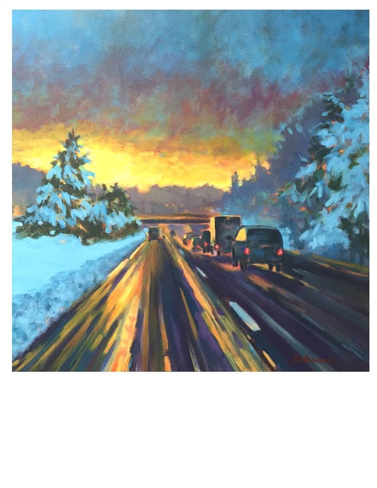 """Retreating Storm"" original fine art by Suzanne Woodward"