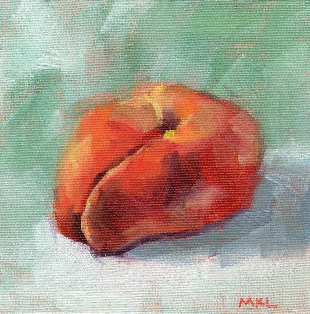 """Doughnut Shaped Apricot"" original fine art by Marlene Lee"