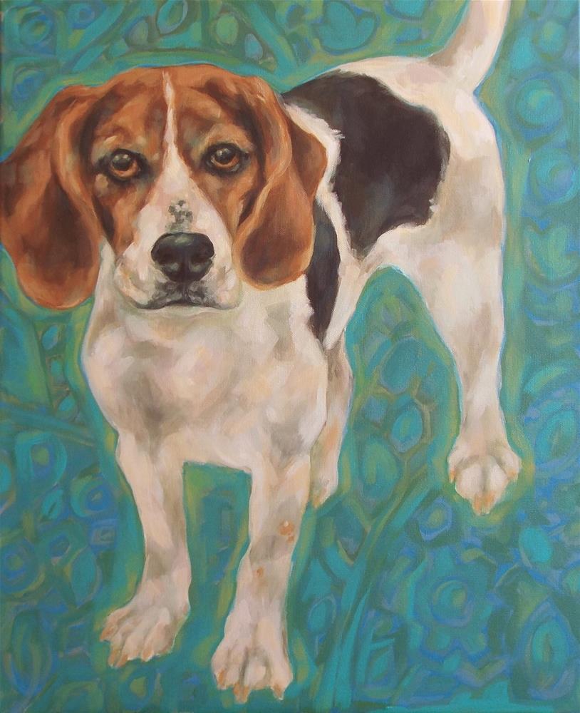 """""""Beagle"""" original fine art by Kathy Hiserman"""