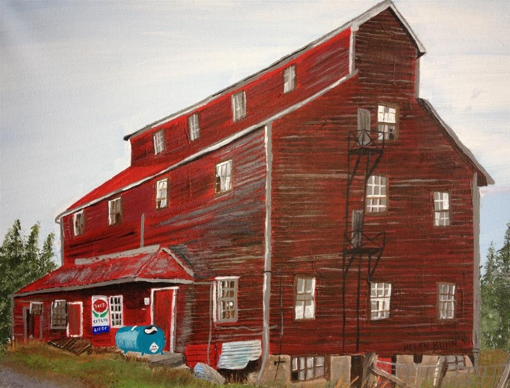 """The Old Grist Mill"" original fine art by Helen Kuhn"