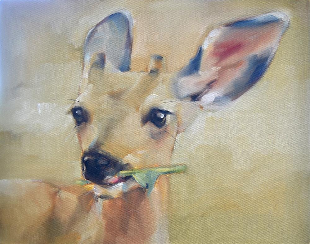 """Deer Nibbles"" original fine art by Cheryl Wilson"