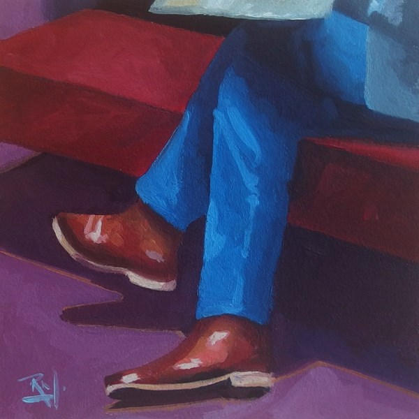 """No 738 The Traveller"" original fine art by Robin J Mitchell"