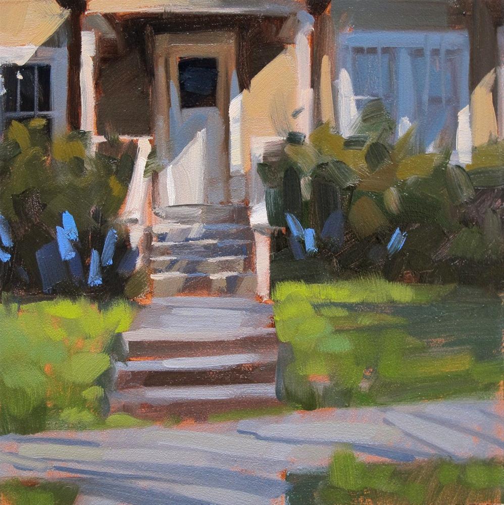 """Just Steps From Home"" original fine art by Carol Marine"