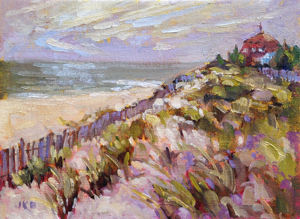 """""""At Cape May Point"""" original fine art by Jeanne Bruneau"""