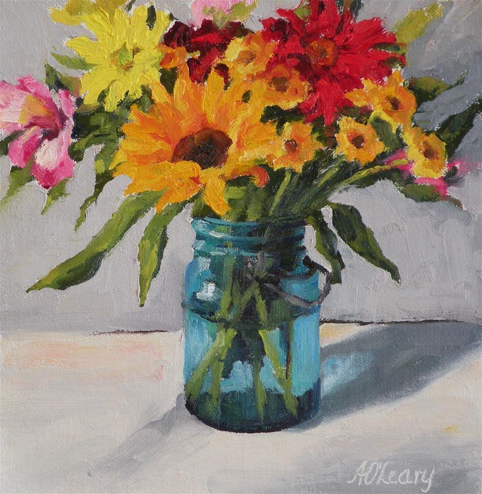 """Summer Bouquet"" original fine art by Alice O'Leary"