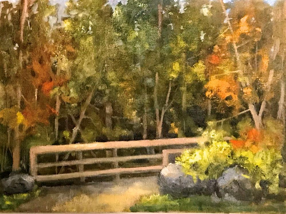 """bridge across the creek"" original fine art by Betty Argiros"