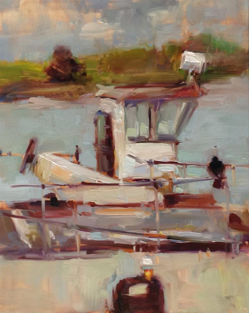 """""""A Little Bit of A Very Big Tugboat"""" original fine art by Patti McNutt"""